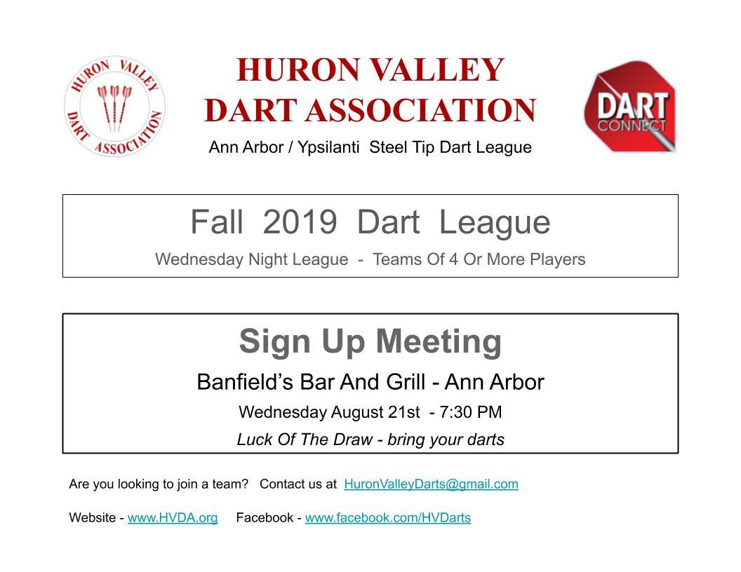 HVDA - Dart League in Ann Arbor / Ypsilanti
